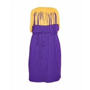 Women's Purple & Yellow Dress